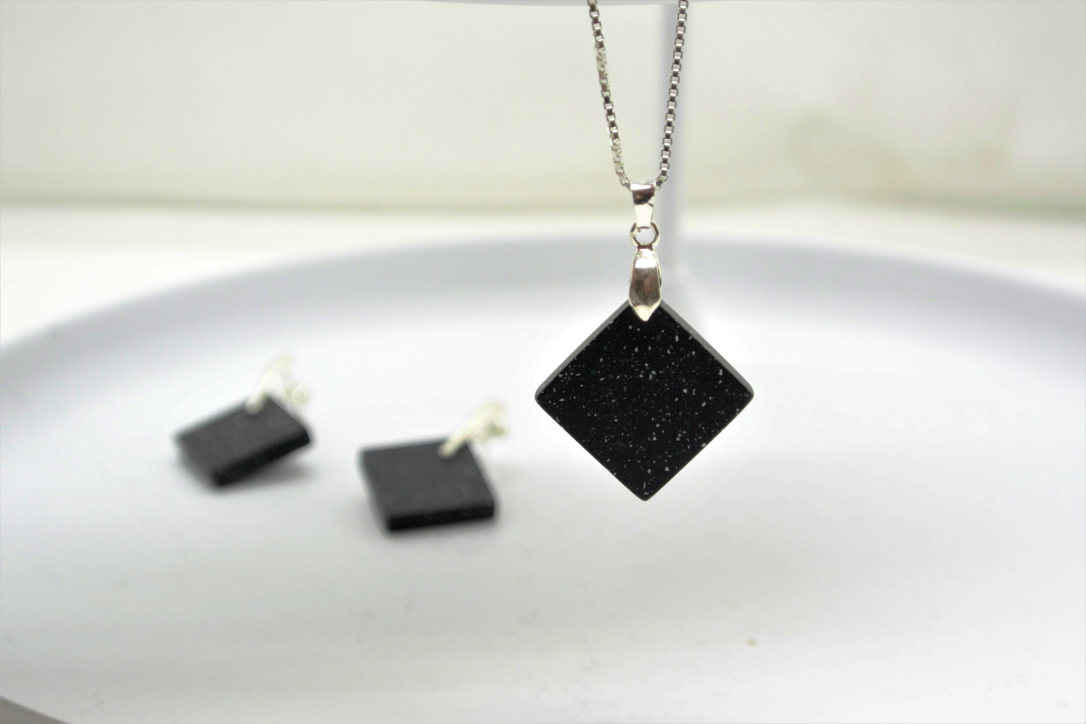 Little Tria Necklase in Deep Nocturne
