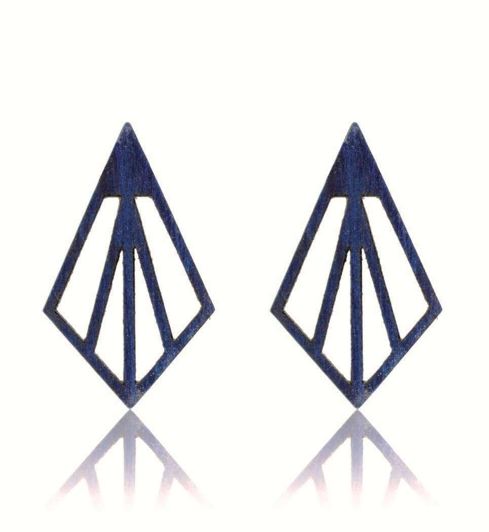 Σκουλαρίκια Arrow in Blue Tulip