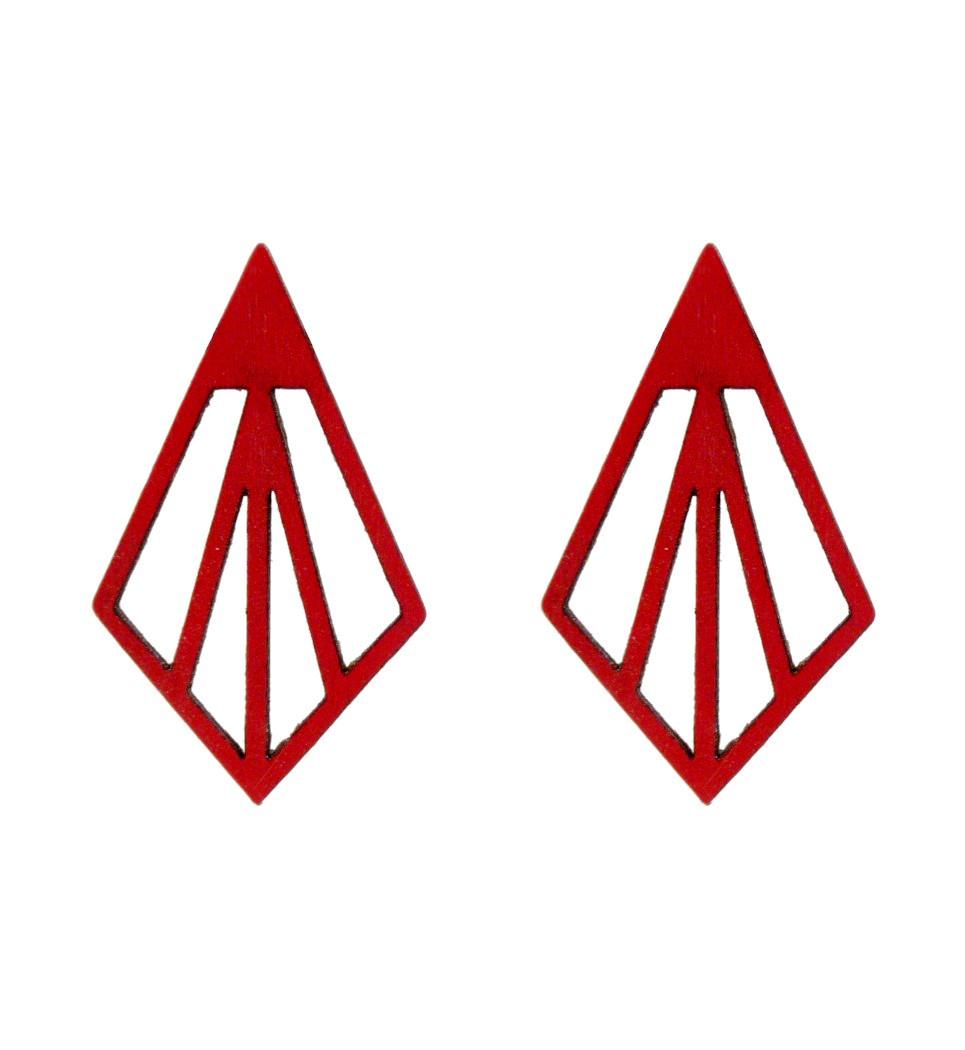 Σκουλαρίκια Arrow in Red Tulip