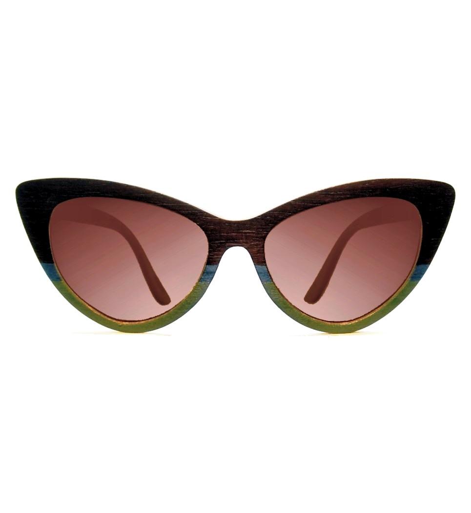 Ξύλινα Γυαλιά Rita in Rosewood and Colors