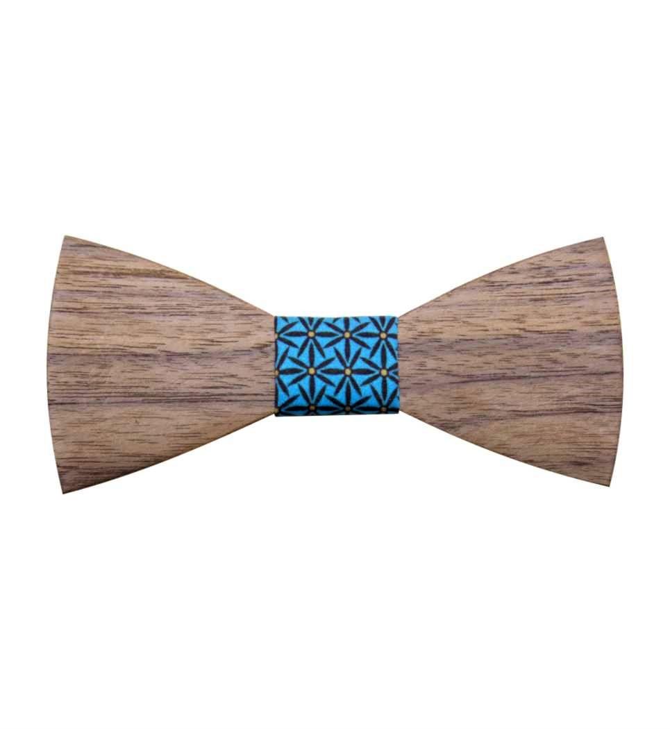 Ξύλινο Παπιγιόν Walnut Curved
