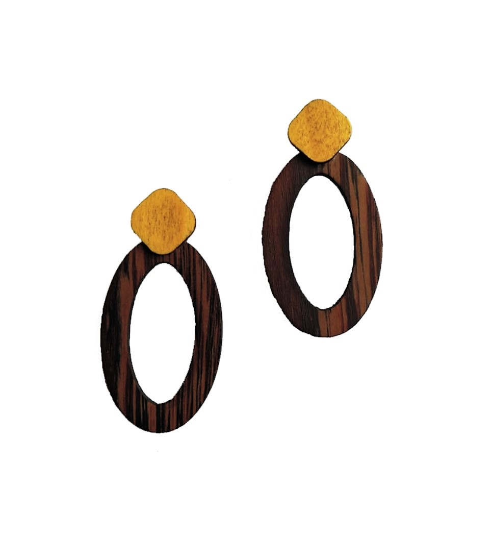 Oval in Wenge and Yellow