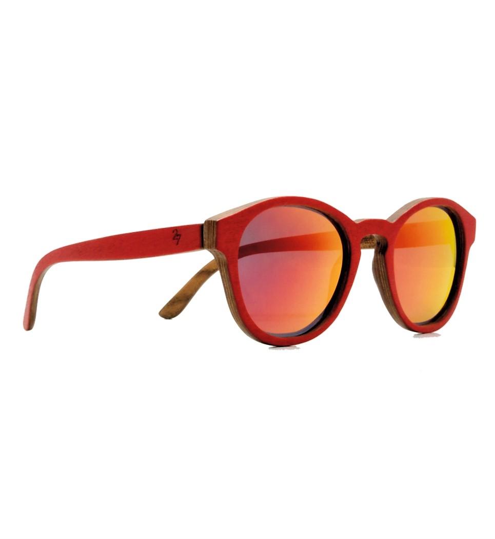 Ξύλινα Γυαλιά Louis in Red Tulip