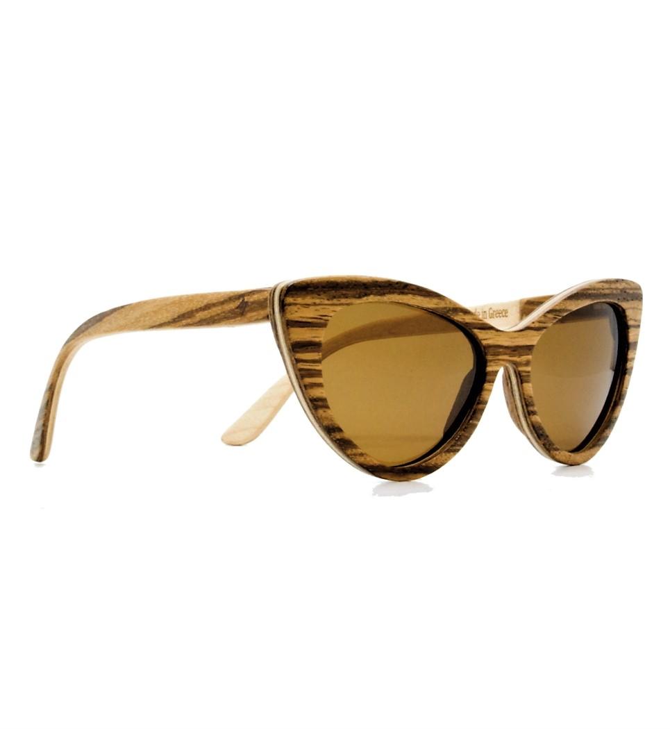 Ξύλινα Γυαλιά Rita in Zebrano